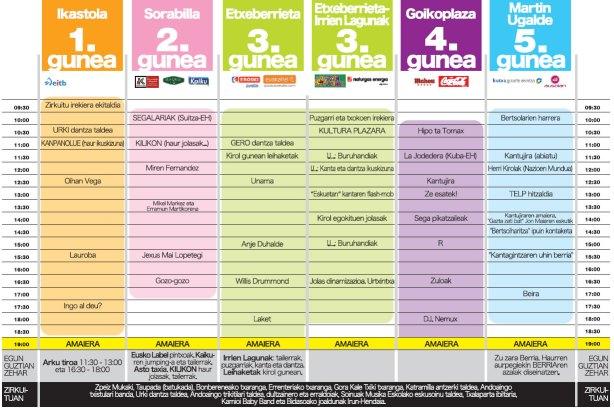 KMK-2012-egitaraua / Kilometroak 2012 - Actividades