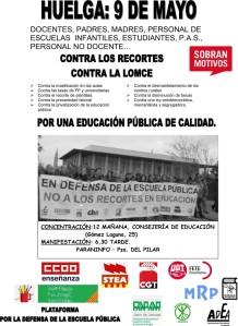 Cartel Huelga 9 de mayo