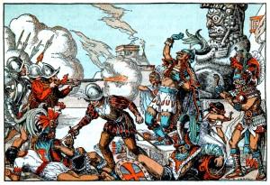 ataque a los aztecas