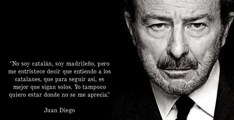 Carta abierta del actor Juan Diego sobre Catalunya (1/2)