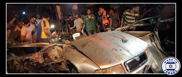 Gaza_coche_TV_alcanzado__ISMPalestine